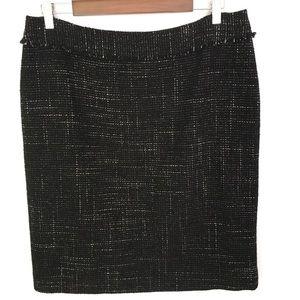 Ann Taylor Wool Blend Tweed Pencil Skirt